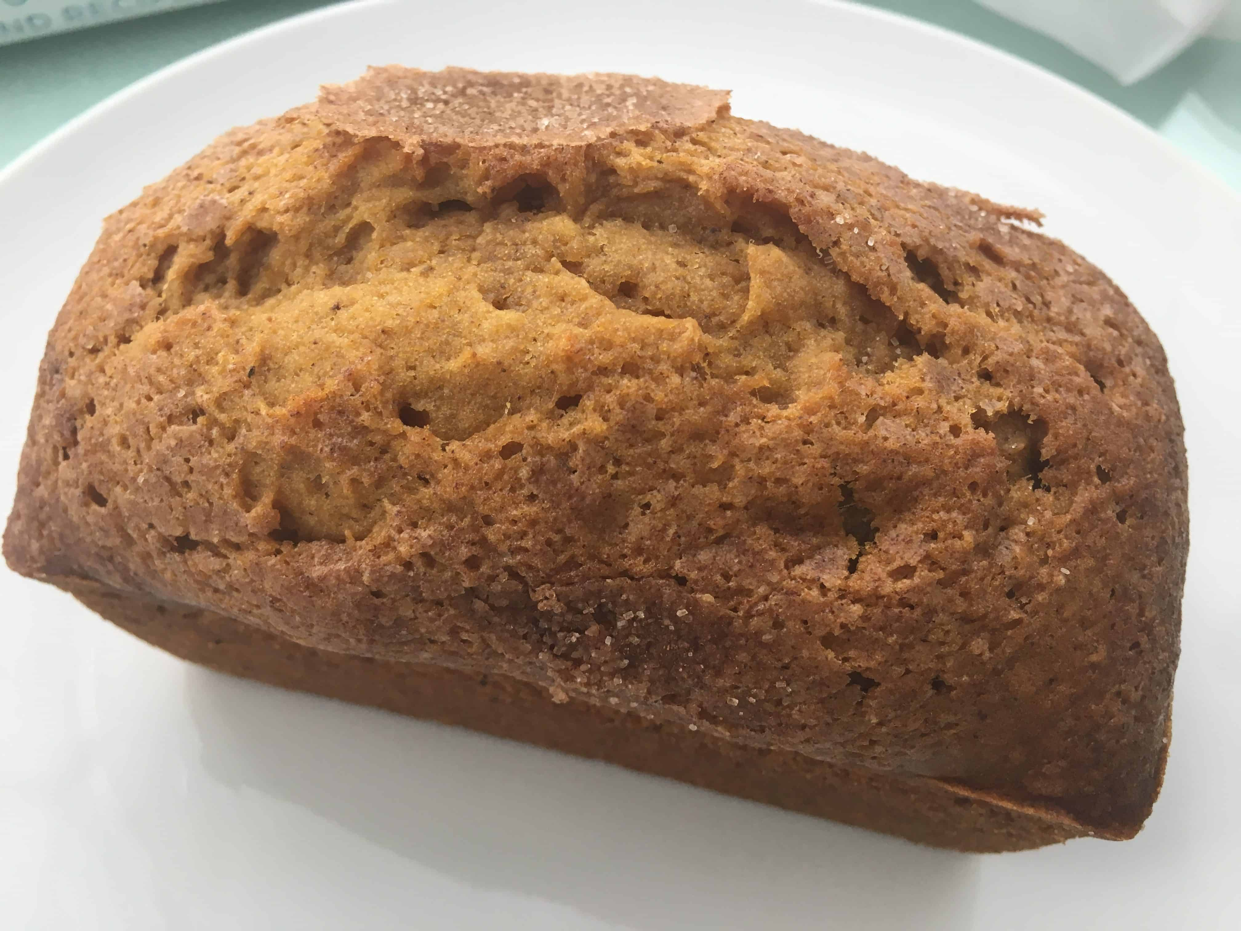 Mini Pumpkin Bread Loaf on a plate