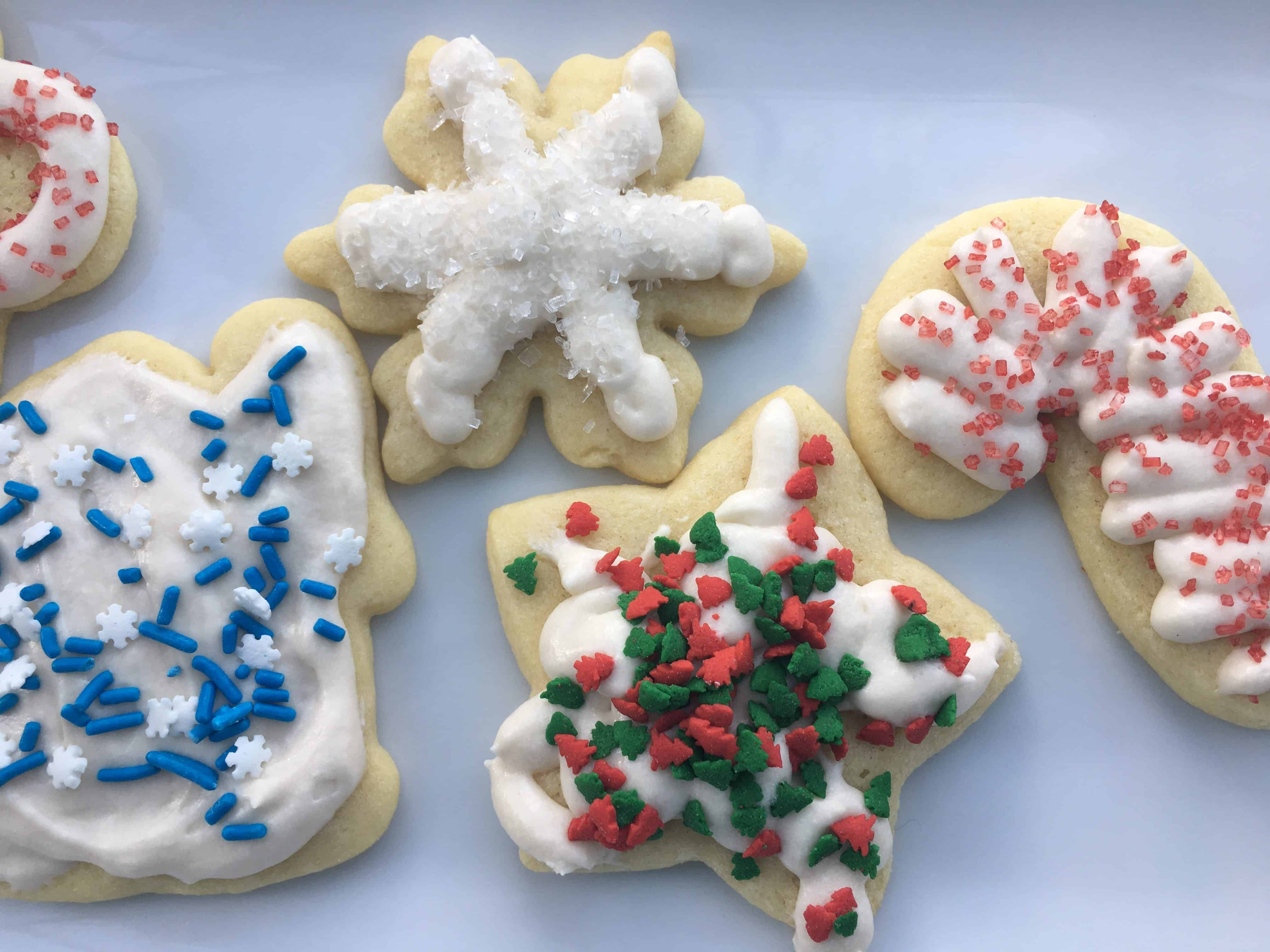 various Sugar Cookies with Buttercream Icing