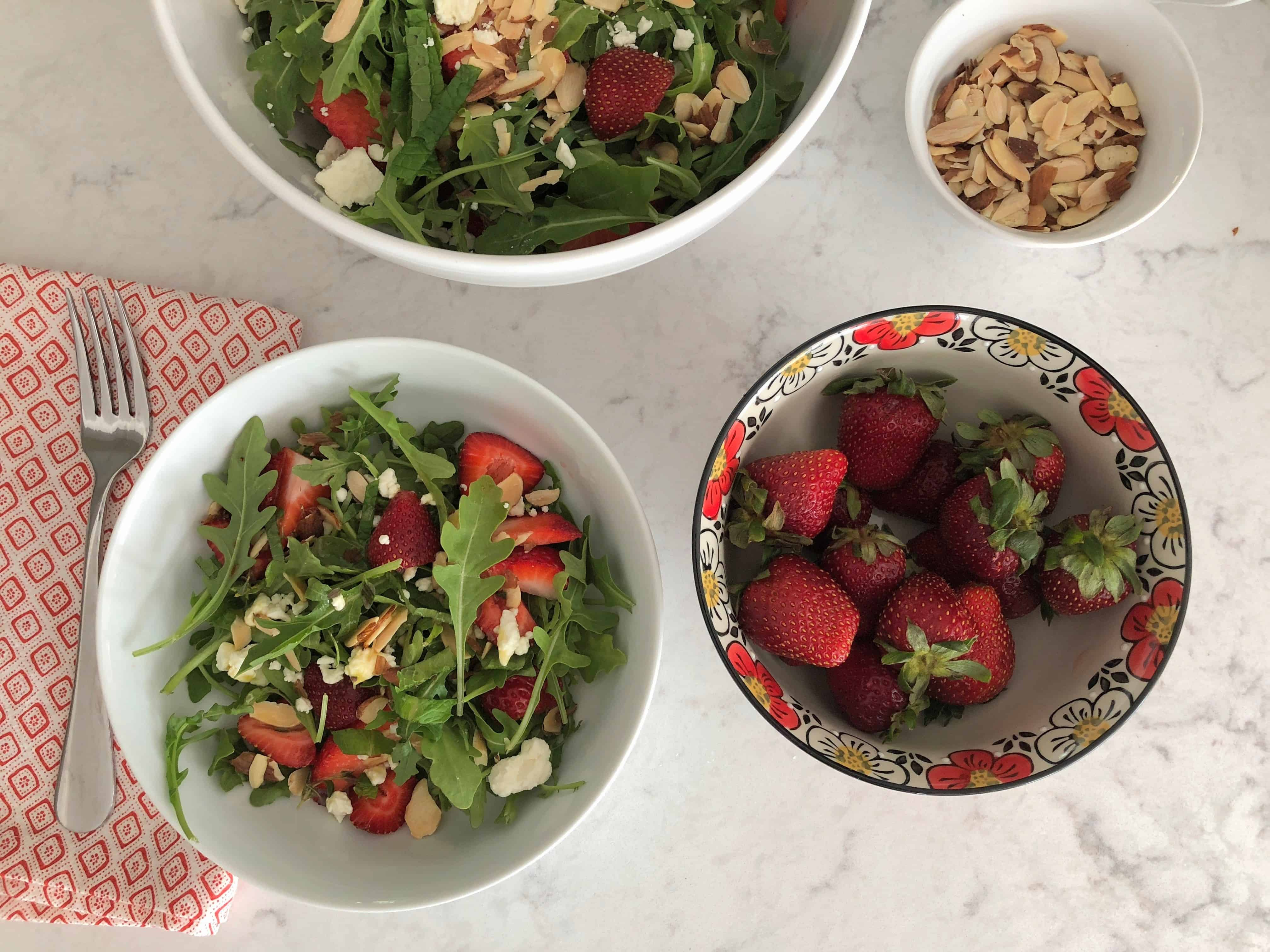 strawberry salad from up above