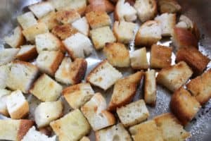fried bread for summer panzanella