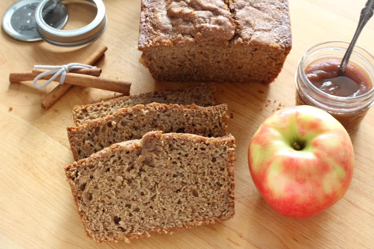 apple butter bread sliced