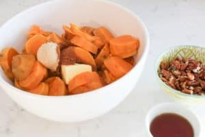 cooked sweet potatoes with butter and sugar