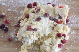 ginger cranberry scone dough