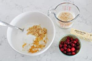ingredients for ginger cranberry scones