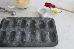 prepared pan for eggnog madeleines