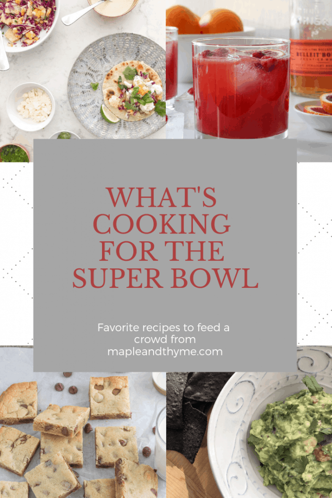 what's cooking for super bowl